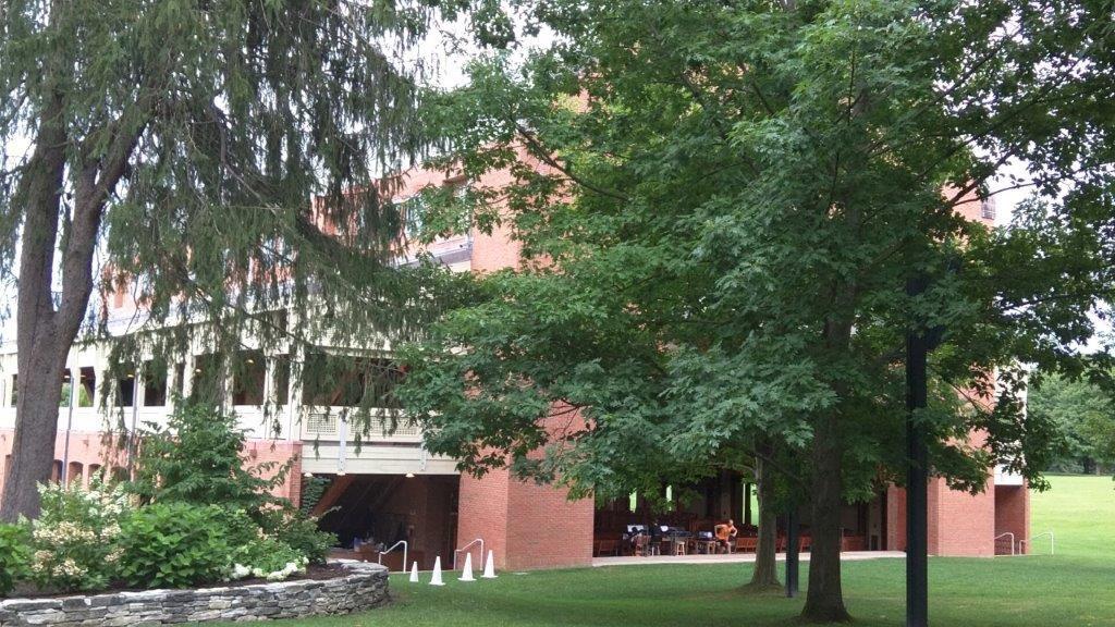 The leafy setting of the BSO's Seiji Ozawa Hall