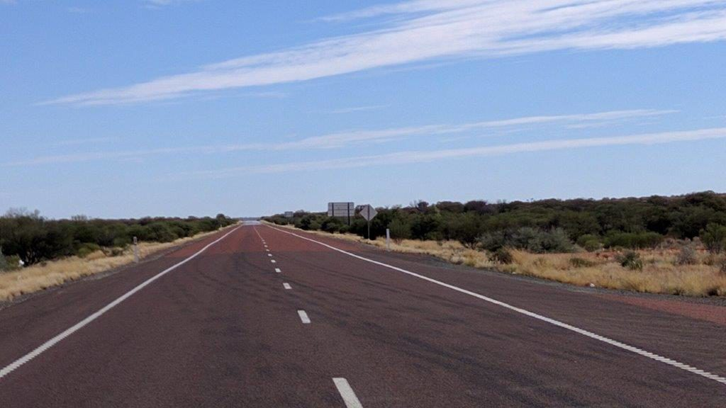 The Stuart Hiway stretches north from Adelaide